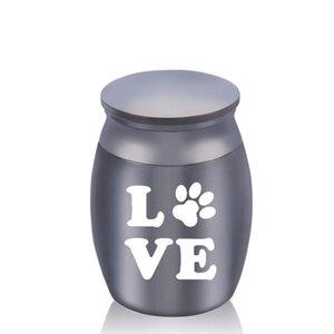 Small Jar Cremation Mini Urn Pet Human Memorial Cremation Jewelry Pet paw Ash Keepsake Funeral Casket 30 x 40 mm