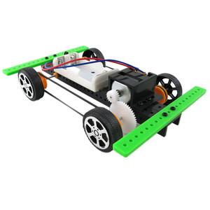 OCDAY Autoassemblage DIY Mini batterie voiture Powered modèle Kit d'enfants d'enfants de jouets éducatifs Giftest Nouveautés