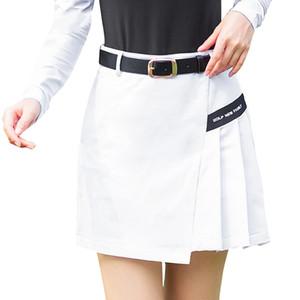 Nouveau Femmes Jupe Golf été Badminton Tennis de table Jupe courte golfeuses Vêtements haute Wasit Tennis Robe Femmes Vêtements