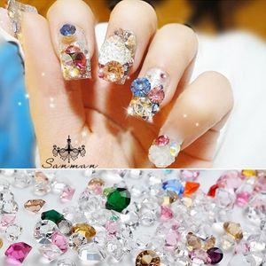 3D Acrílico Gel UV Nail Art Tips Brocas Gems Bead A Gem Diamond Glitter Cristal Rhinestones Beads Jewel Sticker Decorations
