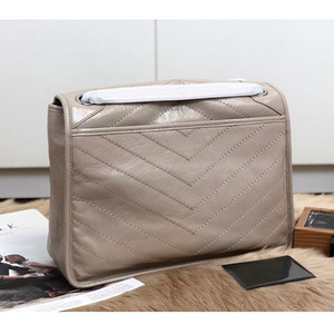 Luxury handbags designer genuine leather shoulder bag fashion women crossbody bags aged calfskin purse brand niki chain bag