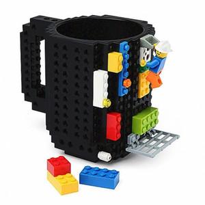 350ml Creative lait tasse tasse de café tasses Construire-sur brique Tasse créative potable Porte-eau pour les blocs de construction LEGO