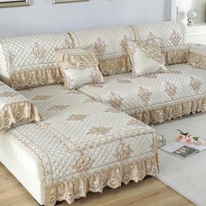 Cobre a Europa sofá para sala de estar secional Slipcover Lace Decor sofá de canto Tampa Toalha Início Protector Caso Mobiliário