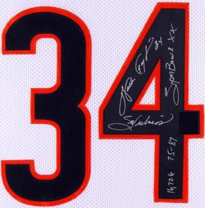 "Walter Payton ""Tatlılık"", ""75-87"", ""Super Bowl XX"" ""16726"" yazıtlı İmza Jersey gömlek signaturer signatured Signed"