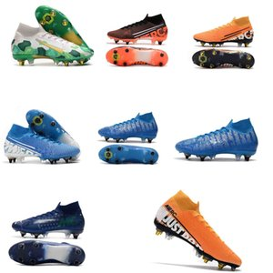 2020 Mercurial Superfly VI 360 Elite 7 Elite SG-PRO AC 13s CR7 Ronaldo Mens High Soccer Shoes 13 Low Football Boots Cleats Size 39-45