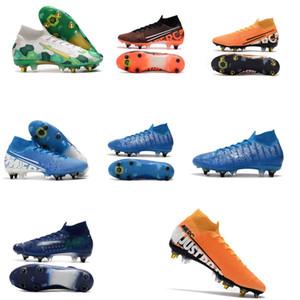 2020 Mercurial Superfly VI 360 Elite 7 Elite SG-PRO AC 13s CR7 Ronaldo Erkek Yüksek Futbol Ayakkabı 13 Düşük Futbol Boots Kramponlar Boyut 39-45