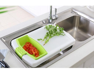 Plastic Cutting Board with Adjustable Multifunctional Drain Basket Free shipping