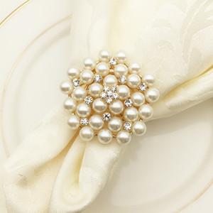 2 Цвет Luxury Craft Diamond Перл цветок Свадебный банкет Званый ужин Дни рождения семейных торжеств Таблица Декор Салфетка держатель AS1033 100шт