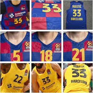 Para hombre de baloncesto Ricky Rubio Lassa Jersey Juan Carlos Navarro Marc Gasol Pau Leandro Barbosa Artem Pustovyi camisa de la Liga Endesa Euroliga