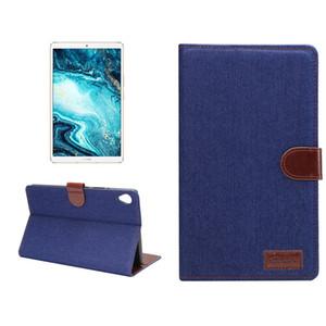 Caso de cuero del tirón magnético Denim con ranura para tarjeta Monedero y pata de cabra para Huawei MediaPad M6 de 8.4 pulgadas de la tableta cubierta elegante de 2019