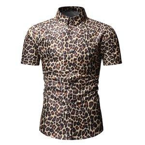 Mens Sexy Leopard Print Shirts 2019 Fashion Nightclub Party Prom Men Dress Shirt Slim Fit Long Sleeve Shirt Men Camisa Hombre