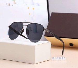케이스 및 상자 806647 가장 잘 판매 5 개 색상 클래식 여름 스타일 안경 우수한 품질 선글라스 빈티지 파일럿