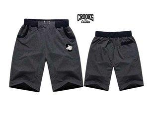 Livraison gratuite 520 s-5xl New hip hop court Mens taille élastique pantalon coloré lettre style coton mélange