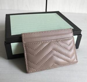 Heiß !!! Freies Verschiffen des Geldbeutels der berühmten Modemarkenfrauen verkauft klassische Marmont-Kartenbeutelqualitätslederbeutel-Minimappen