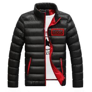 Gli uomini di velluto Custom Car dell'anatra giù inverno maschio jogging Jacket Cotton Vest Uomo Casual Wear esterna caldi della neve Sport Zipper Cappotti
