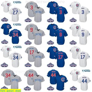 2016 World Series Champions patch Youth men women cubs 9 Javier Baez 17 Bryant 44 Rizzo 3 David Ross kids baseball jersey 100% Stitched