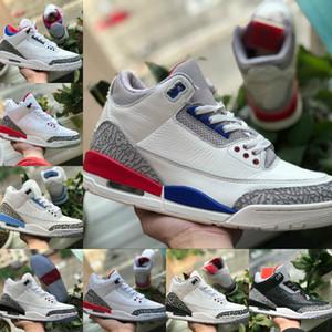 2019 Nike Air Jordan 3 Shoes Air max michael jordans retro  TINKER SP NOIR CIMENT UNC bleu PE Mocha Hommes Basketball Chaussures de sport Chaussures de sport