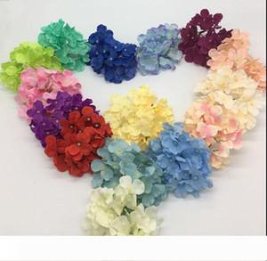 silk Hydrangea artificial flower Handmade silk Rose Flower Heads For Wedding Decoration flower-wall