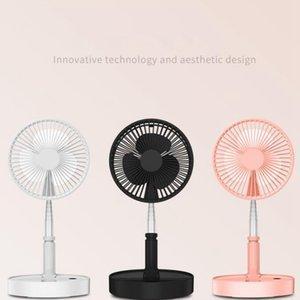 Portable USB Fans Telescopic Foldable Mini Fan Electric LED Fan Cooler USB Rechargeable Desk Fans Sea Shipping LJJO8057