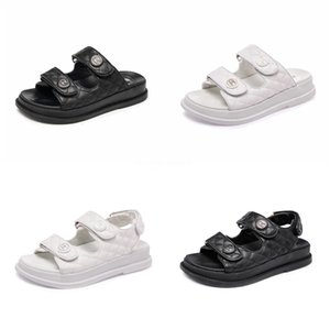 Sandalet Ayakkabı 2020 Yaz Burun Kalın Düz Katı Pu Casual Kız Plaj Kadın Floplar Bayanlar ayakkabı Bayan Siyah Kahverengi 34-40 CT1 # 510 kadın