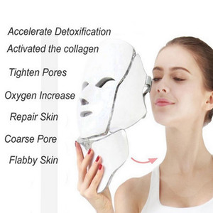 Beauty Photon LED Facial Mask Therapy 7 Color Light Skin Care Device Rejuvenation Wrinkle Acne Removal Face Beauty Spa Machine