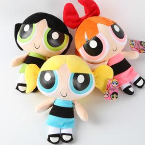 20cm Meninas Superpoderosas Plush Doll brinquedos para as crianças Bubbles Blossom Buttercup Stuffed Plush Doll três meninas presente de ano novo