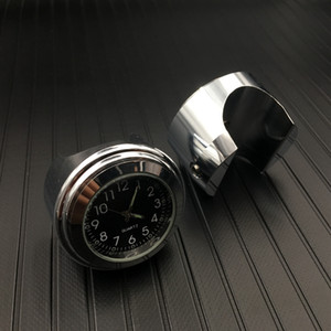Montre d'horloge de cadran de bâti de guidon de moto de 7/8 pouces et thermomètre Temp Gauga pour Harley imperméable