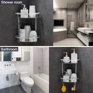 2 Layer Suction Cup Bathroom Kitchen Storage Shower Shelf Holder Rack Organizer