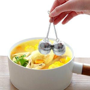 Bola de filtro de aço inoxidável chá Sphere Hot Pot tempero Bola Coffee Bag Filtro yq00481 Difusor Tea Kitchen