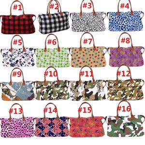 42 ألوان سعة كبيرة مطبوعة حقيبة التخزين حقيبة السفر المتضخم التمويه ليوبارد منقوشة حمل