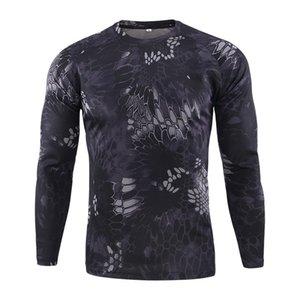 Nouvelle tactique militaire de camouflage T-shirt Homme Respirant Quick Dry US Army Full Combat manches Outwear T-shirt pour les hommes