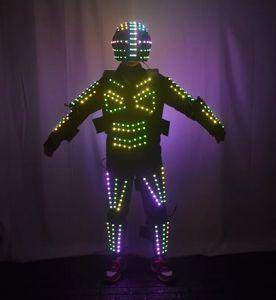 Colorido Led Luminosa Terno De Dança Robô Iluminado Crescer Luz Up Salão de Baile Halloween Traje Grande Evento Partido Levou Roupas