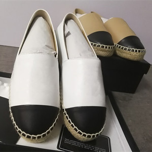 Classic Design donne di cuoio Espadrillas Ballerine reale agnello Estate Mocassini sandalo multicolor Espadrillas Scarpe con la scatola Size 34-42