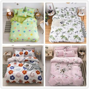 1.5m 4-piece bedding sheet, quilt cover and pillow case can be washed with more than 100 styles and colors to choose from