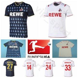 FC Koln Köln 2019 2020 Futbol 33 Sebastiaan Bornauw Jersey Ev 23 Mark Uth 14 Jonas Hector 15 Jhon Córdoba Futbol Gömlek Setleri