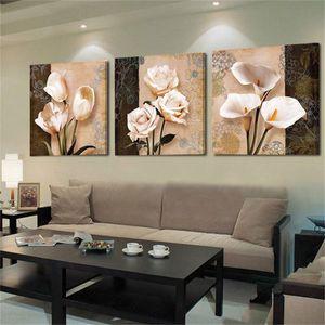 Pittura floreale Immagini olio classica del fiore creativo sfondo Wall Art Poster Print Canvas Camera stampe Living Home Decor