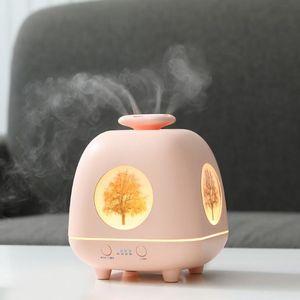 DHL frete grátis New Four Seasons Elf aromaterapia máquina ultra-sônica Início desktop Aromaterapia criativa Atmosfera Night Light Umidificador