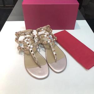 2018 novos couro genuíno Red sapatos novos Mulheres Thong Sandals Verão Mulheres Praia Sandals famosos flip Fllops