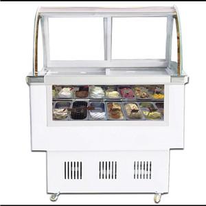 -18С 8 Ствол 12 Tank Hard Ice Cream Glass Icecream машины Морозильные витрины Морозильная витрина