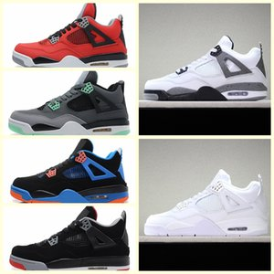 Nike Air Jordan Original AJ AJ4 4S Bred 2019 Was Die Basketballschuhe 30th Anniversary Laser Silt Red Splatter Singles Day Lightning Reines Geld Oreo Men 4 Sneakers