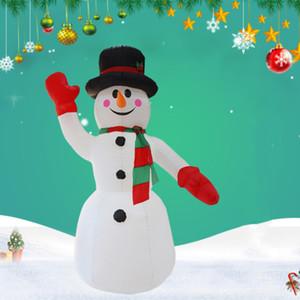 2.4 m LED Iluminado Boneco de Neve de Natal Inflável Boneco de Neve Xmas Blow Up Santa Claus Gigante traje Ao Ar Livre Festival decoratio