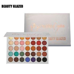 Красота Glazed 35 цветов поразила вас пигментированной палитрой теней для век 2019 Матовый мерцающий металлик Тени для век Макияж Розничная торговля Dropshipping