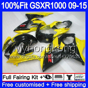 Впрыск для SUZUKI GSX R1000 K9 GSXR 1000 09 10 11 12 13 15 16 302HM.25 GSXR1000 2009 2010 2011 2012 2014 2015 2016 Желтый черный Обтекатель