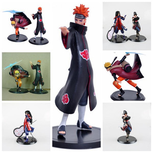 2pcs / set Naruto PVC Action Figure Uzumaki Naruto Orochimaru Uchiha Sasuke Hatake Kakashi Naruto Mini Çocuk Oyuncak Parti Favor AAA1165