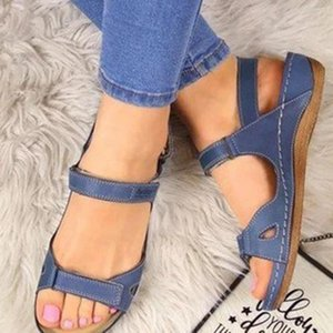 2020 Hot Women Sandals Flat Open Toe Leather Sandals Casual Shoes for Summer Outdoor Hiking Walking Beach Shoes Woman Footwear