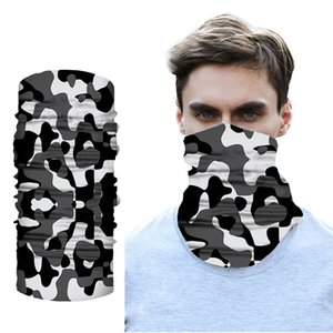 New Arrive Printd Camouflage Tube Neck Gaiter Scarf Warmer Multipurpose Face Mask Bandanas Headband Motorcycle Men