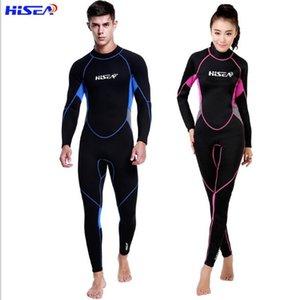 Günstige Wetsuit HISEA 3mm Tauchen Paar Langarm Hosen Warm und Dickere Schwimmanzug Tauchanzug Zipper Quallen Surfen