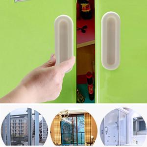 4pcs Glass Set porte coulissante en plastique durable Poignée de fenêtre fenêtre coulissante Poignée de porte Importé pâte Type armoire poignée de porte DH0654 T03