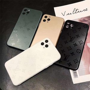 Metallic paint designer phone Cases 11promax xsma pro case Brand Back cover TPU+PC case Luxury phone cover For iphone 11 pro max 7 plus Case