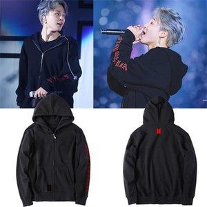 2018 KPOP BTS amare se stessi World Tour Fleece Cap con cappuccio Jimin V SUGA allentato Zipper cappotto del rivestimento unisex Outwear